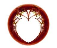 Fractal met hart Stock Afbeelding