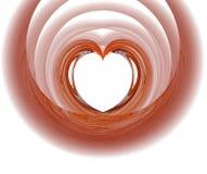 Fractal met rood hart Royalty-vrije Stock Foto