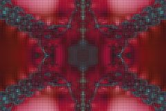 Fractal mosaic background Royalty Free Stock Photos