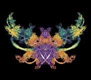 Fractal Motyl obrazy royalty free