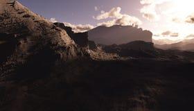 Fractal mountain Stock Photo