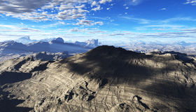 Fractal mountain Stock Images