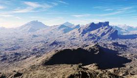 Fractal mountain landscape Royalty Free Stock Images