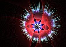 Fractal Multicolor da flor Fotos de Stock Royalty Free