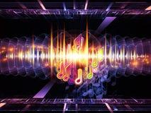 Fractal music Stock Image