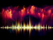 Fractal muzyka Obrazy Royalty Free
