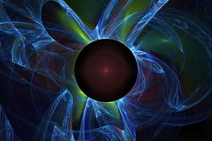 fractal Nachthemel met veel Sterren stock afbeeldingen