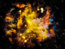 Fractal Nebula Royalty Free Stock Photography