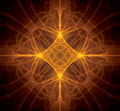 Fractal Orange Star Royalty Free Stock Image