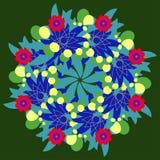 Fractal ornamental floral del círculo abstracto del vector Fotos de archivo libres de regalías