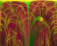 fractal, ornamento mágico de la imaginación del diseño de la elegancia de la fantasía del papel pintado moderno del elemento de f ilustración del vector