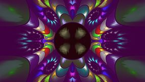 Fractal ornate colour, widescreen. Widescreen fractal of shape and color Stock Photography