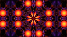 Fractal ornate floral kaleidoscope, widescreen Royalty Free Stock Images