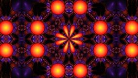Fractal ozdobny kwiecisty kalejdoskop, widescreen Obrazy Royalty Free