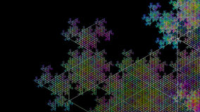 Fractal. This is part one big fractal that looks like a snowflake Royalty Free Stock Photography