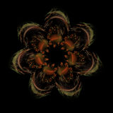 Fractal passion flower on black background royalty free stock images