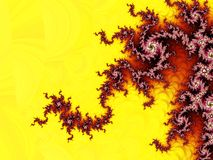 Fractal pattern. With very strong colors. I think it is a mandelbrot set vector illustration