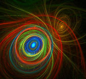 Fractal pattern. Of colored lines Royalty Free Stock Photos