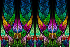 Fractal pattern in stained glass style. Stock Images
