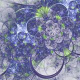 Fractal pattern with tiny flowers. Digital artwork for creative graphic design stock illustration