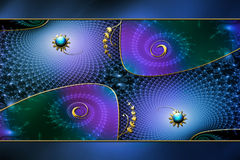 Fractal Phantasy Background Layout. Fractal background frame made in Photoshop using my own fractals, textures, images and PS  brushes. A unique background for a Stock Image