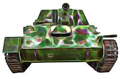 Fractal picture of Old tank. Fractal picture of tank of period of the second world war stock photography
