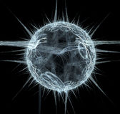 Fractal planeet vector illustratie