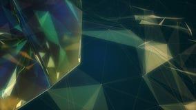 Fractal plexus abstract animation stock video footage