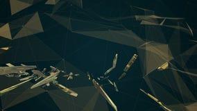 Fractal plexus abstract animation stock footage