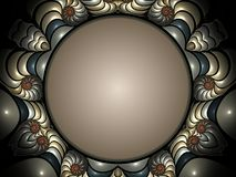 Fractal presentation. Attractive and colorful fractal frame design royalty free illustration