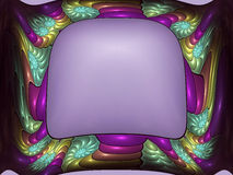 Fractal presentation new. Colorful and ornate fractal frame stock illustration