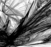 Fractal preto e branco abstrato no fundo branco Textura do fractal da fantasia Twirl vermelho de Digitas art rendição 3d Imagem g ilustração do vetor