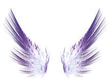 Fractal purpura uskrzydla na białym odosobnionym tle Zdjęcie Stock