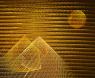 Fractal with pyramids Royalty Free Stock Photography