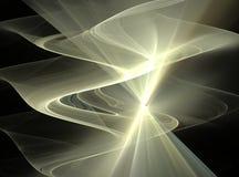 Fractal que brilla intensamente abstracto amarillo Imagenes de archivo