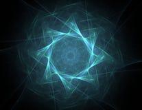 fractal radiaal patroon voor wat betreft wetenschap, technologie en ontwerp royalty-vrije illustratie