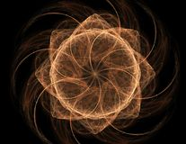 Fractal radial pattern on the subject of science, technology and design.  Stock Photography
