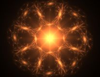 Fractal radial pattern on the subject of science, technology and design Royalty Free Stock Photos
