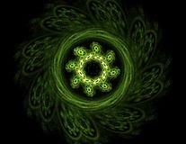 Fractal radial pattern on the subject of science, technology and design.  Stock Photo