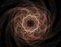 Fractal radial pattern on the subject of science, technology and design.  Stock Image