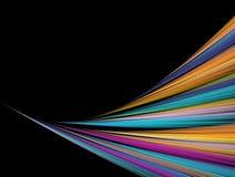 Fractal rainbow Stock Image
