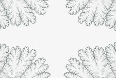 Fractal rama Monochromatyczny rocznika abstrakta plakat royalty ilustracja
