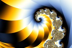 Fractal real de la onda Imagenes de archivo