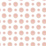 Fractal red flowers. An elegant bright illustration with coral flowers. Pattern for design of fabric, wallpapers. On white. Background stock photos