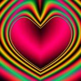 Fractal Retro valentijnskaart-Dag Hart Stock Afbeeldingen