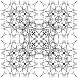 Fractal of rhombuses. Monochrome pattern of lines and rhombs. Royalty Free Stock Photography