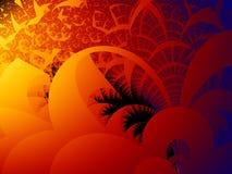 Fractal rode achtergrond Vector Illustratie