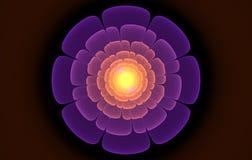 Fractal roxo da flor Fotografia de Stock