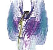 Fractal roxo de turquesa ilustração do vetor