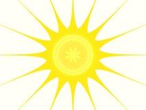 fractal słońce Obraz Royalty Free